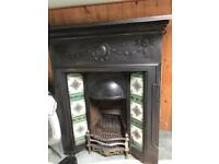 Cast iron Fireplace with tile surround