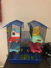 Hamster cage and accessories bundle