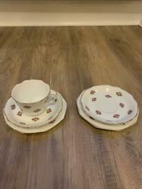Collingwood Cup and Saucer Trio - Bone China