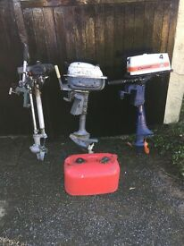 Job lot of outboard engines