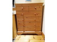 Chest of Drawers: 6 drawer wood effect