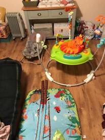 Jumperoo-baby rocket- baby mat