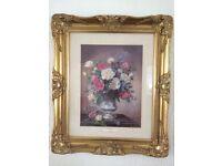 Gilt Framed Floral Picture