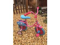 Peppa Pig bike with stabilisers