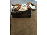 Golf shoes autographed by Darren Clarke - brand new and boxed