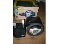 OFFICIALLY LICENSED XBOX LOTUS STEERING WHEEL