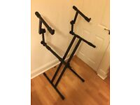 Quik Lok 642 heavy duty double tier keyboard stand