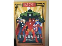 Large marvels canvas