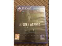 Hidden Agenda for PS4 (SEALED)