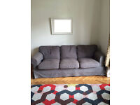 Ikea Grey EKTORP Three-Seater Sofa With Fully Removeable Covers That Can Be Dry Cleaned