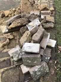 Bricks rubble hardcore