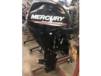 2015 Mercury 25HP Fuel Injected Power Trim EFi 4-Stroke Outboard with Remotes