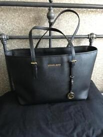 Genuine Michael kors large black jet set tote