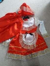 Girls little red hood costume 4-5 years old