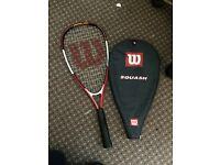Junior Wilson squash racket