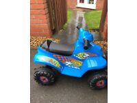Blue racing quad ride on