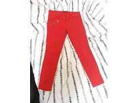 Red Mohito trousers Size 12/14