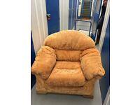 Rust coloured chair