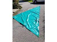 Heavy duty triangular tarpaulin