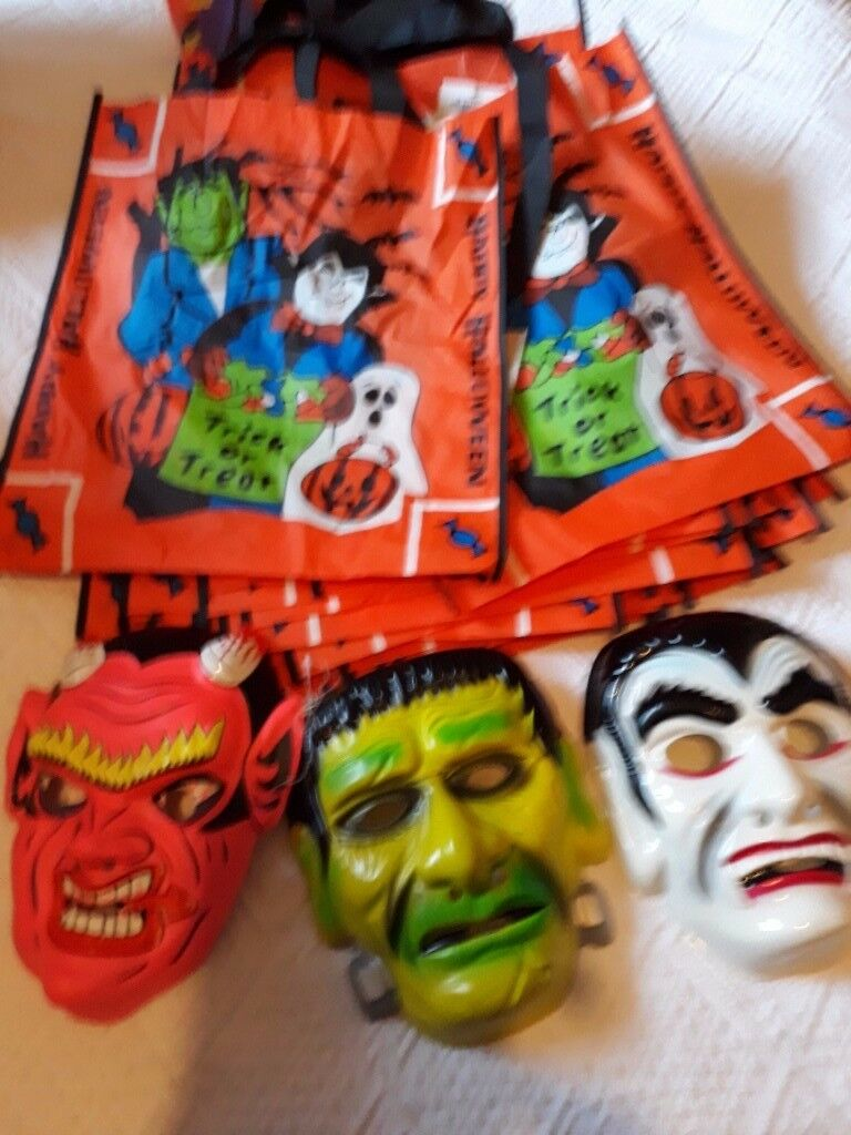 Lots of Hallowe'en Masks and Trick or Treat Bags