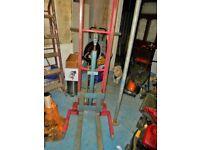 excellent manual pallet lift forks