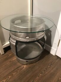 Patio / Mancave Glass Top Side Table