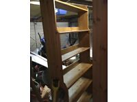2 large 6 shelf bookcases Pick up only. St Helens wa10
