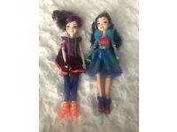 Descendants Dolls Mal and Evie Excellent Condition