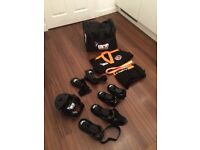 Kids taekwon-do equipment, only used once! Head, hand & foot protection, uniform and bag