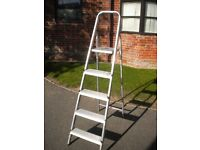 A 6 FOOT ABRU Aluminium STEP LADDER