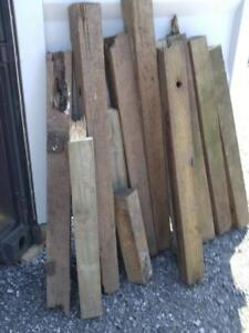 Oakville Used Wood 40ft linear 4x4s Railway Ties Garden Borders Untreated Old Pre-owned Pieces