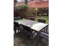 Black Outdoor Table set