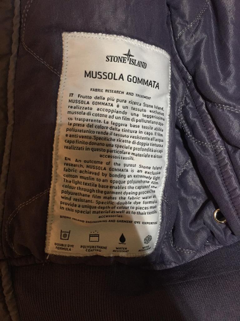 Mens jacket gumtree - Stone Island Mussola Gommata Jacket Mens Small Brand New Genuine In Kings Cross London Gumtree