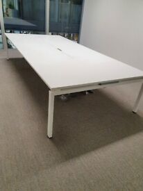 Elegant white office/meeting/conference/boardroom table