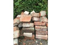 Victorian reclaimed red clay bricks and hard fired Edinburgh brick