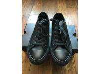 women black converse size 6 school shoes