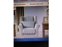 as new 4 seater sofa 1 arm chair and large footstool