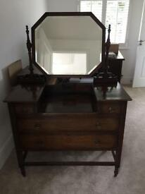 Dark oak dressing table
