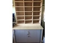 Office tambour unit and shelving unit
