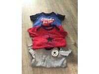 Converse vests 3-6 months