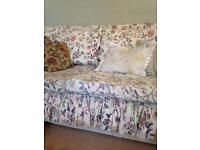 3/4 seater sofa, 2 seater sofa and double bed
