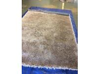 Large champagne ribbon rug