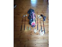 Set of Childs Golf Clubs and Bag