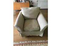 Two down filled sofas, a 2 seater and a 1 seater with 3 different covers