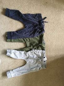 Boys next tracksuit bottoms age 9-12 months