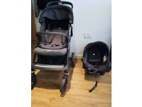 Used Joie Travel System - Pushchair & Infant Car Seat