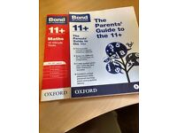 Bond 11+ Parents' Guide to the 11+ and 10 minute maths tests books