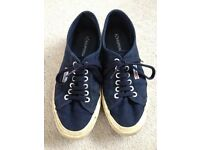 Ladies navy blue 'Superga' trainers - size 6 (great condition!)