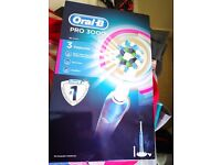 Brand new Oral B pro 3000 electric toothbrush