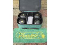Hensilite Bowls set size 3 Heavy Classic - inc carry bag & 2 carry straps